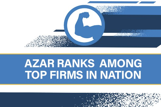 Azar Ranks Among Top Firms In Nation Battling Insurance Companies